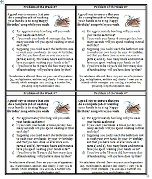 Problem of the Week Template (Cuts into 4 copies)
