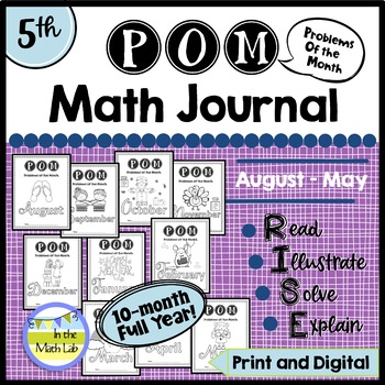 Problems of the Month (POM) Math Packs BUNDLE - 5th Grade