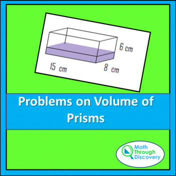 Geometry:  Problems on Volume of Prisms