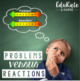 Problems vs. Reactions: Emotional Regulation Pack #october