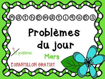 La résolution de problèmes du jour - mars ÉCHANTILLON