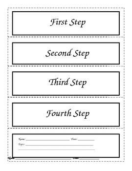 Procedural (How To) Writing Flipbook/Foldable