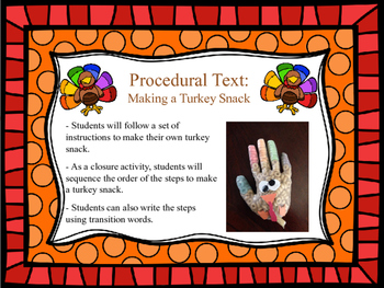 Procedural Text: Craftivity, Sequencing Activity, and Writ