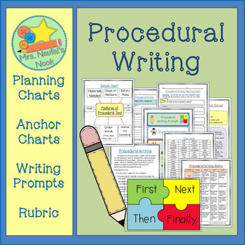 "Procedural Writing - ""How to"" Graphic Organizers, Charts &"