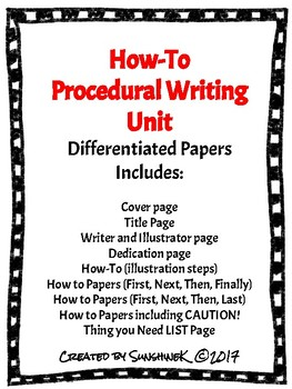 Procedural Writing- How-To Writing Paper PACK