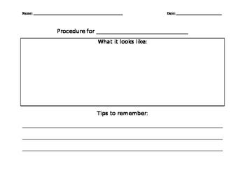 Procedure Response & Reflection - Primary