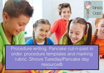 Procedure Writing; Shrove Tuesday; Pancake Day
