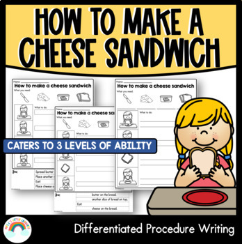 Procedure writing template differentiated by krazy for Sandwich template for writing