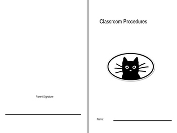 Procedures Booklet- Editable (for your own rules)