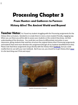 Processing 3 History Alive the Ancient World: Neolithic an