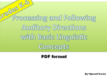 Processing & Following Auditory Directions wit Basic Lingu
