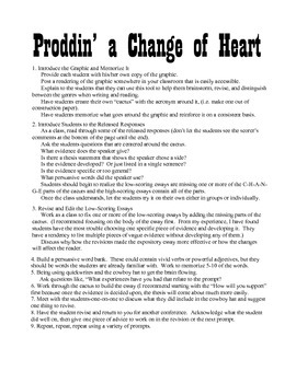 Proddin' a Change of Heart: The Persuasive Essay