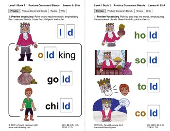 "Produce Consonant Blends ""ld"" and ""lk"": Lesson 6, Book 2 ("