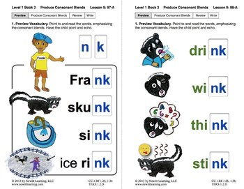 "Produce Consonant Blends ""nk"" and ""nt"": Lesson 9, Book 2 ("