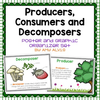 Producer Consumer Decomposer Posters and Interactive Notebook Set