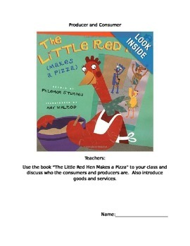 """Producer and Consumer """"The Little Red Hen Makes a Pizza"""""""