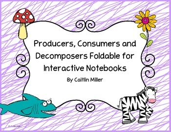 Producers Consumers Decomposers Foldable for Interactive N