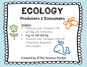 Producers and Consumers Notebook & Rubric Assignment