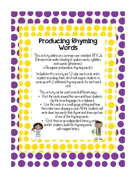 Producing Rhyming Words