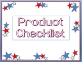 Product Checklist