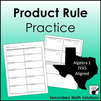 Exponents - Product Rule Practice