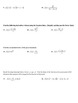 Product and Quotient Rule Derivatives Worksheet (Day 2)