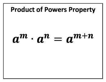Product of Powers Property Concept Clue