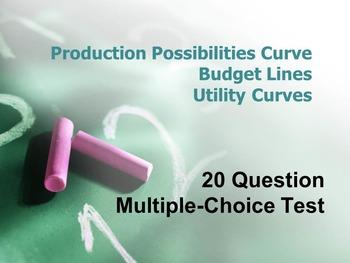 Production Possibilities Curve, Budget Line, Utility Curve