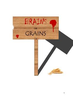 Production Possibilities Frontier - Brains vs. Grains