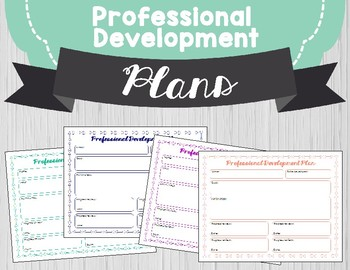 Professional Development Plan FREEBIE