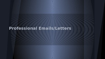 Professional Email Tips PowerPoint