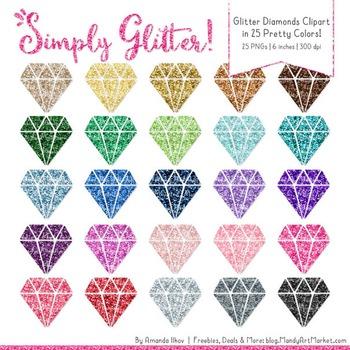 Professional Glitter Diamonds Clipart - Glitter Diamond, G