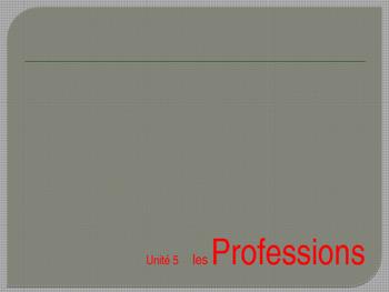 Professions Vocabulary T'es Branche Unit 5