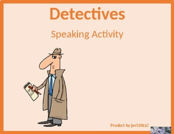 Professions in English Detectives Speaking activity