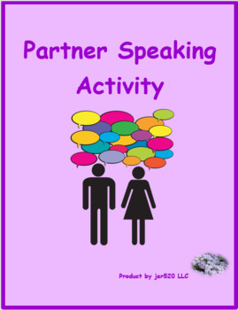 Professions in French Partner Puzzle Speaking activity