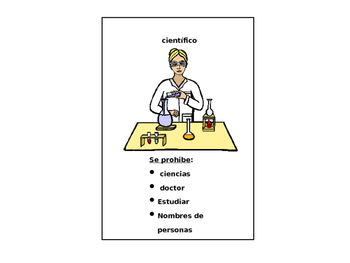 Professions in Spanish Taboo Game