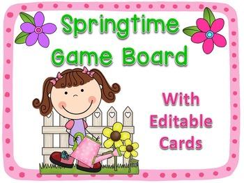 Springtime Board Game {Editable!}