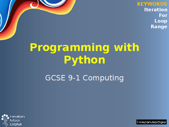 Programming Techniques using Python