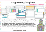 Programming Templates Editable PDF PowerPoint and OneNote