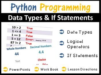 Python Programming Coding - Lesson 3 Data Types & IF Statements