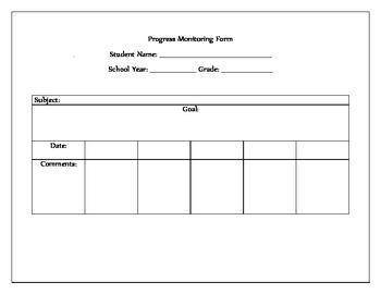 Progress Monitoring Form