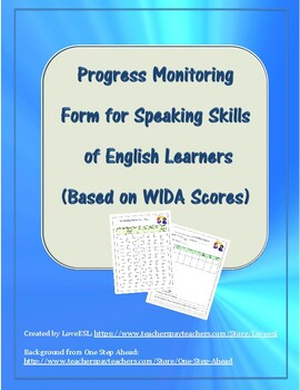 Progress Monitoring Form for Speaking Skills of ELs (Based