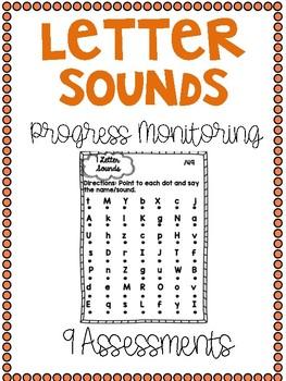 Progress Monitoring Letter Sounds Assessments {9 Assessments}