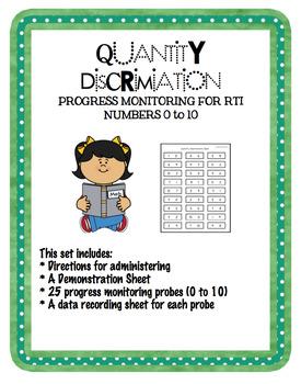 Progress Monitoring Quantity Discrimination 0 - 10 for RTI