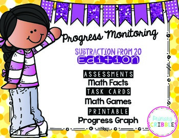 Progress Monitoring {Subtraction From 20 Edition} with Ass