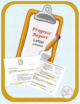 Progress Report  {EDITABLE} / Parent Letter