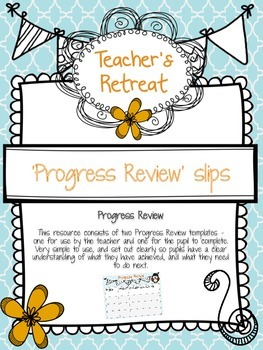 Progress review template