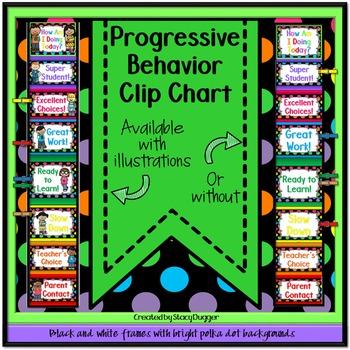 Progressive Behavior Clip Chart (Bright Polka Dots)