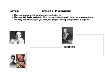 Progressive Era Comic- Muckrakers