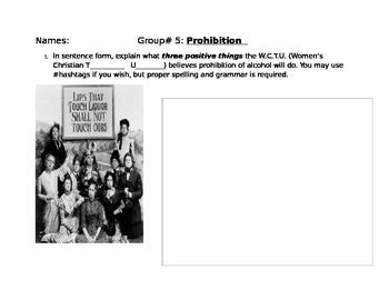Progressive Era Comic- Prohibition